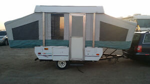 Coleman Tent trailer with car or without for rent