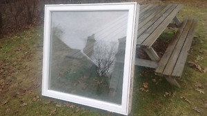Fixed white vinyl window
