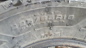 4 winter tires 225/65r16 Cambridge Kitchener Area image 2