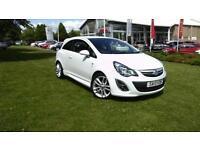 2013 Vauxhall Corsa 1.4i 16v ( 100ps ) ( a/c ) SRi, White, 15573 miles