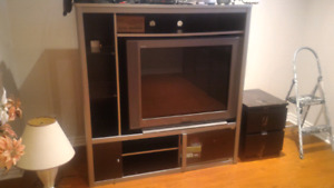 """36"""" sony tv and stand"""