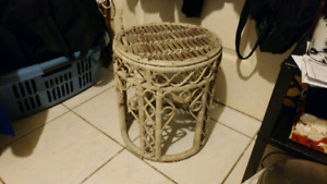 Birch-coloured wooden end-table (used)