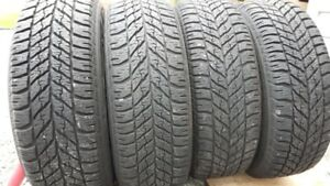 Set of 4 GoodYear Winter Tires on Steel Rims