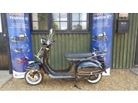 AJS Modena 125cc 125 Retro Moped Scooter learner legal full warranty
