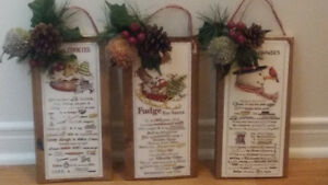 Christmas Recipe plaques Cornwall Ontario image 1