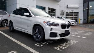 2017 BMW X1 Lease Takeover. M Sport + Executive. Metallic White.