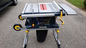 Mastercraft 10 inch table saw with stands