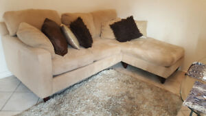 Two sided excellent L shape sectional couch for sale$300.00