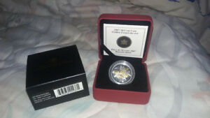 2007 50-cent sterling silver coin - golden forget-me-not