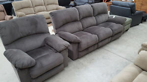 2 piece brown couch and chair - Delivery Available