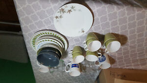 Collection of assorted Dishes and mugs