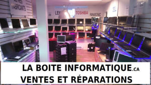 Laptop repair and we sell on line boiteinformatique.com