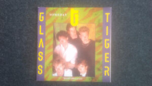 Five Glass Tiger 45 Vinyl Records - one with sleeve poster Cambridge Kitchener Area image 4