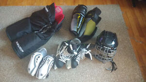 Men's Hockey Gear, following items have only been used twice