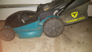 YARDWORKS ELECTRIC LAWNMOWER! SELLING AS IS! NEEDS FIXING!
