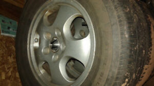 "Selling four 15"" rims (5x114.3 bolt pattern), perfect condition"