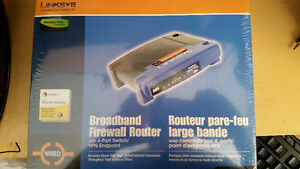 Brand new Linksys Broadband firewall router w/ 4 port switch