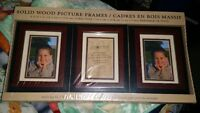 3 Pack Solid Wood Picture Frame ( 5 x 7 in)