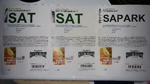 2 Saturday Day Admission Tickets n Parking for Dauphin Countryfe