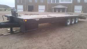 1998 Gorzn 24' Beavertail Flat Deck Trailer