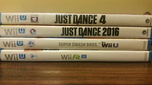 Original Wii u Games Smash Bros, Wii FitU, Just Dance