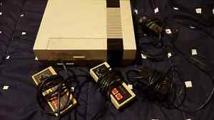 Original Nintendo NES with two controllers