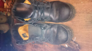 Black Leather Timberlands Mens size 10.5