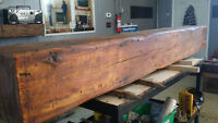"ONE OF A KIND ""BARN BEAM"" MANTELS  - FROM 1820'S BREWERY"