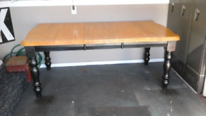 Harvest Table with butcher block top