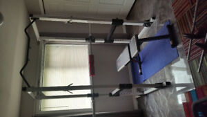 Home Gym with Squat Rack and Weights