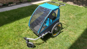 VGUC Thule Coaster Double Bike Trailer Stroller