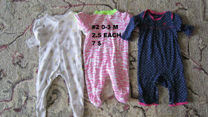 Baby girl clothes 0 to 3 months. Sleepers. London Ontario image 7