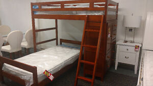 Storage Bunk Bed and Mattresses