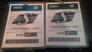 2 Pilsner Place Suite Roughrider Tickets Oct.29