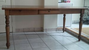 old wood kitchen table