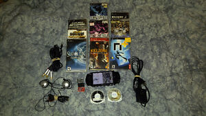 PSP 3001/accessories/games/extras combo!