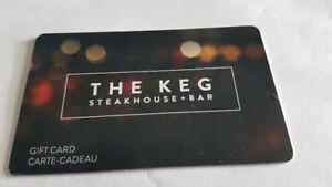 Keg restaurant  gift card (150.00 balance)