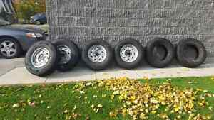 Winter  tires  on rims  4 London Ontario image 1