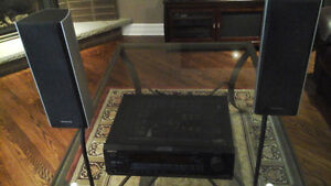 ONKYO Receiver with Speakers and TECHNICS Receiver