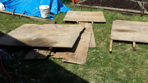 Large pile of1/2 inch plywood variety of sizes