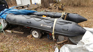 Saturn Inflatable boat 15 feet