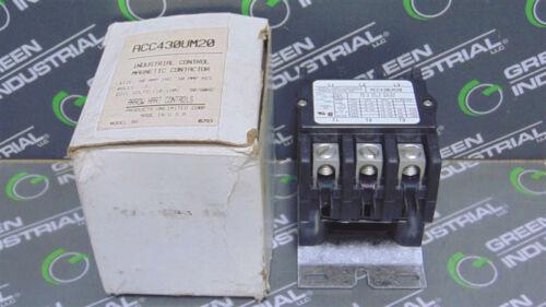 NEW Arrow Hart ACC430UM20 Industrial Control Magnetic Contactor 40/50A 110/120V