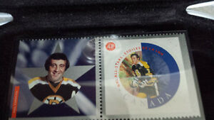 BOBBY HALL & PHIL ESPOSITO NHL STAMP/MEDALLION COLLECTOR SETS