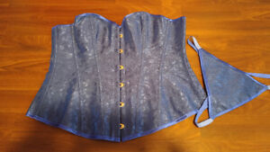 Over bust corset, royal blue