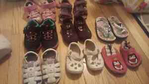 12 pairs Infant girl sandals and slippers