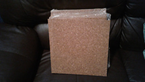 Brown cork tile qty 29  square feet
