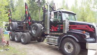 2003 Western Star logger, 1995 triaxle trailer