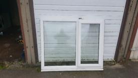 PVC DOUBLE GLAZED WINDOW.