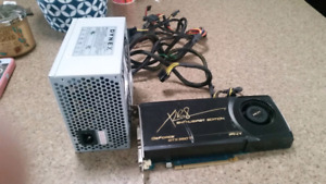Video card with power supply