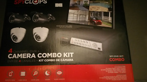 4 Channel Security DVR Kit with Bullet and Dome Cameras